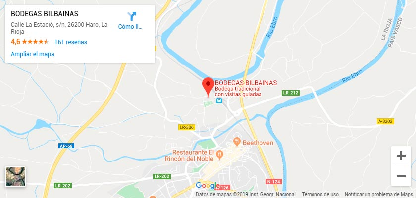 Mapa Bodegas Bilbaínas