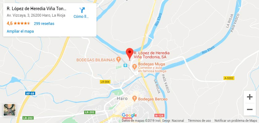 Mapa Bodegas López de Heredia