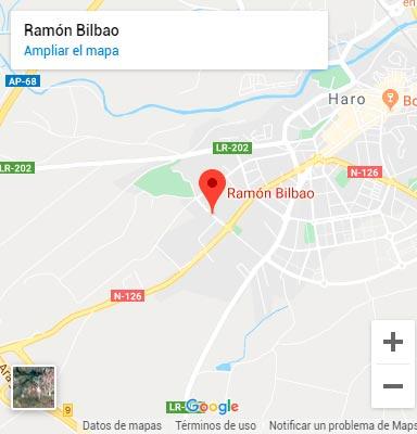 Mapa Bodegas Ramón Bilbao